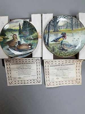 Knowles plates by Bart Jerner, 1987 The Wood Duck & 1988 The Blue-Winged Teal