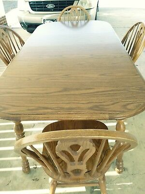 COCHRANE Furniture SOLID OAK Table 4 chairs. Classic Thresher collection