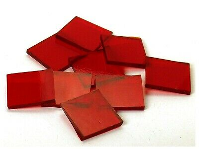 Ruby Red Cathedral | Fusible 96 | Hand Cut Mosaic Glass Tile Shapes | Package