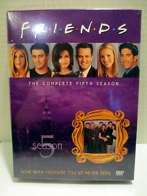 Friends Complete Fifth (5) Season 2003 Boxed 4 Disc DVD Set - Brand New Sealed