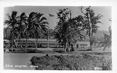 GUAM 1940s RPPC Real Photo Postcard 22nd Military Hospital