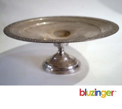Vintage Sterling Silver Weighted Pedestal Dish - Judaica