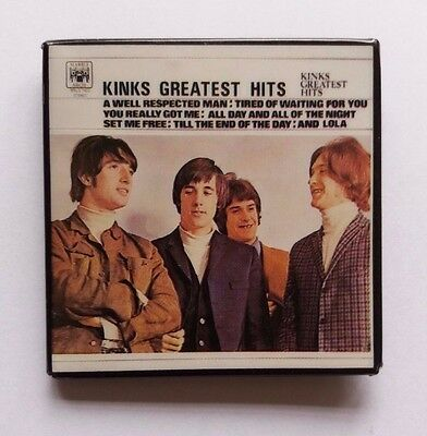 THE KINKS GREATEST HITS ORIGINAL NOS 1970s MOD SCOOTERISTS ALBUM BADGE/PIN