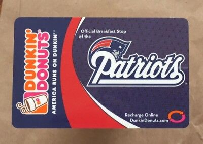 2007 Dunkin Donuts Gift Card. NEW ENGLAND PATRIOTS. Mint. Worldwide shipping.
