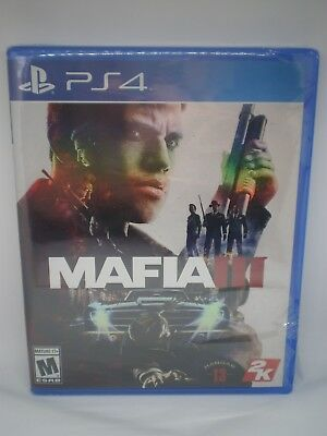 NIP SEALED MAFIA III VIDEO GAME for PS4 PLAYSTATION 4