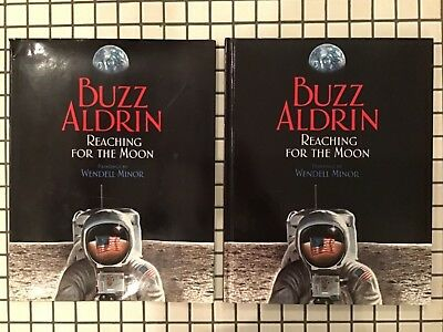 BUZZ ALDRIN 1st Ed APOLLO 11 NASA SIGNED REACHING FOR THE MOON hc dj W. Minor