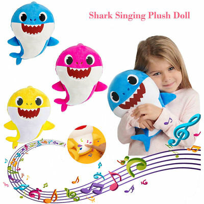 """15"""" Baby Shark Singing Plush Toy Music Soft Doll English Song Play Gift for Kids"""