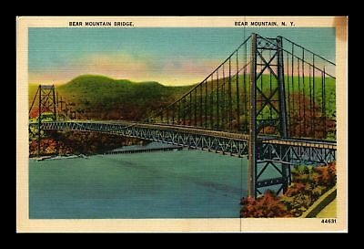 Dr Jim Stamps Us Bear Mountain Bridge New York Linen Postcard