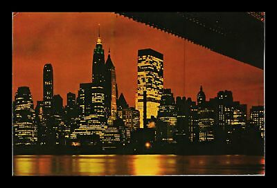 Dr Jim Stamps Us Lower Manhattan New York City Night View Postcard