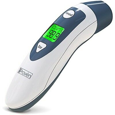 Baby Forehead Thermometer with Ear Function- iProven DMT489 Gray Cap - FDA and C