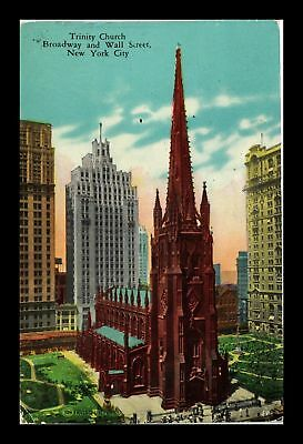 Dr Jim Stamps Us Trinity Church New York City View Postcard