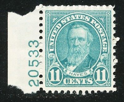 Dr Jim Stamps Us Scott 692 11C Hayes Plate Single Unused Og Nh No Reserve