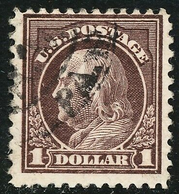 Dr Jim Stamps Us Scott 518 $1 Franklin Used No Reserve Free Shipping