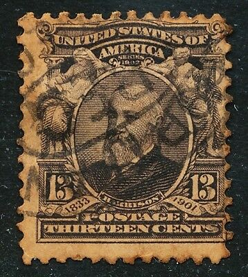 Dr Jim Stamps Us Scott 308 13C Harrison Used No Reserve Free Shipping Toned