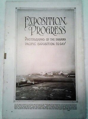 "1915 Panama Pacific Exposition ""Exposition Today"" Pamphlet"