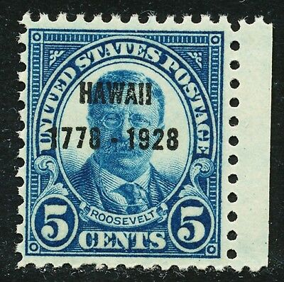 Dr Jim Stamps Us Scott 648 5C Roosevelt Hawaii Unused Og Nh No Reserve