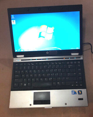 HP ELITEBOOK 8440P Laptop Win 7 4GB RAM 250GB HD Webcam Bluetooth 14