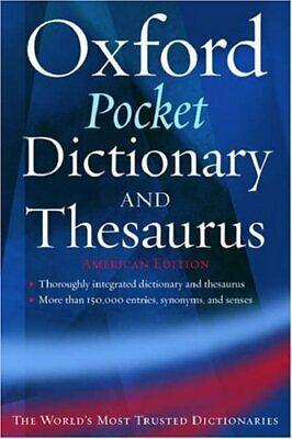 The Oxford Pocket Dictionary and Thesaurus: American Edition (New L... Paperback