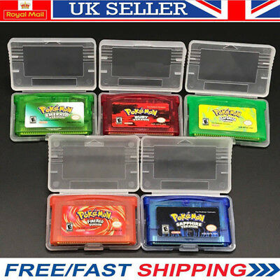 Pokemon Fire Red Ruby Leaf Green  Emerald Sapphire Gba Gameboy Advance Ds Sp Uk