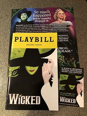WICKED The Musical Broadway Playbill, Flyer & Mini. Jessica Vosk, Rachel Tucker