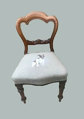 victorian hall bedroom dining chair jack russell fabric embroidery cushion