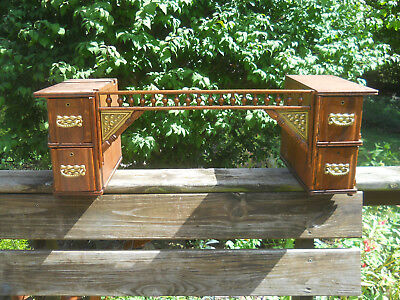 Antique Wheeler & Wilson Treadle Sewing Machine Drawers w/Frame & Fret Work