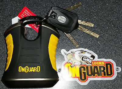 OnGuard 8101 Beast 11mm Padlock Pick Cutter Resistant Shielded Hardened Shackle