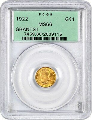 1922 Grant with Star G$1 PCGS MS66 (OGH) - Classic Commemorative - Gold Coin