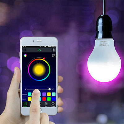 iOS & Android Wireless Control 5.7W RGB Color Changing Magic LED Smart light US