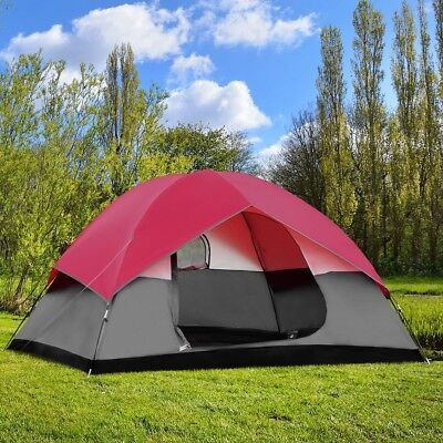6 Person Family Tent Easy Set-up Outdoor Camping Hiking Rainproof W/Bag