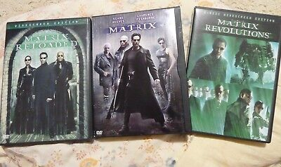The Matrix, Matrix Reloaded, Matrix Revolution - Keanu Reeves, Hugo Weaving