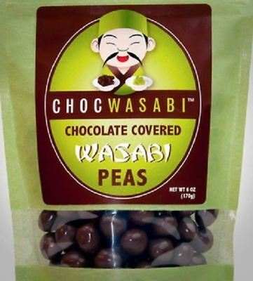 Chocwasabi Chocolate Covered Wasabi Peas Sweet Hot Tasty Dad Fathers Day Gift