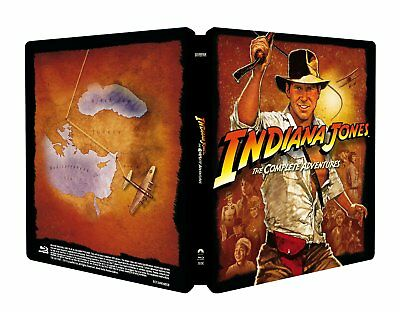 Indiana Jones Steelbook The Complete Collection Blu ray EU Import New & Sealed