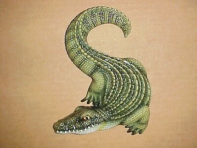 "6"" Alligator Home Decor Wall Sculpture Plaque Gator Louisiana Wildlife Crocodile"