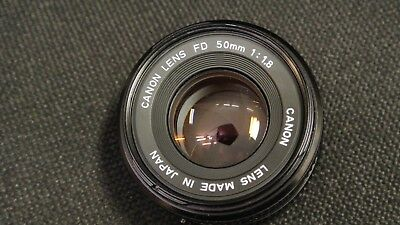 Canon Fd 50Mm F1.8 Lens In Vgc