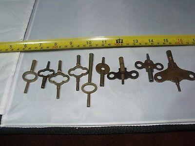 Antique And Vintage Clock Keys. Carriage And Mantel. A6
