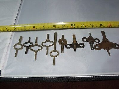 Antique And Vintage Clock Keys. Carriage And Mantel. A8
