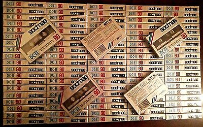 100 x SOCIMAG DC-II 90 (type II) - Position Chrome - CASSETTE TAPES BLANK SEALED
