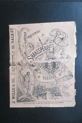 1902 Shakespeare Theatre Liverpool Programme Monsieur Beaucairelewis Waller