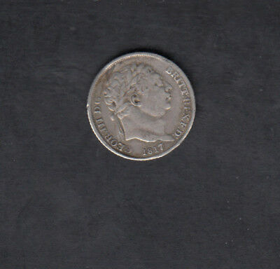 1817 Great Britain Silver 6 Pence