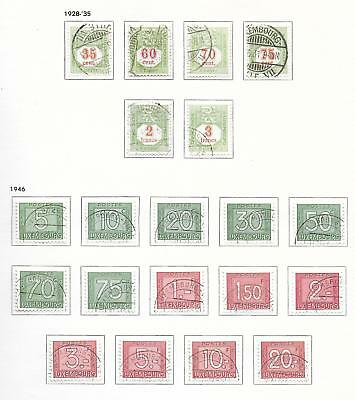 Luxembourg stamps 1928 Collection o20 DUE stamps CANC VF HIGH VALUE!