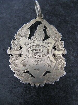 Victorian Silver Fob Medal Eastern Cycling Club Road Race 1892