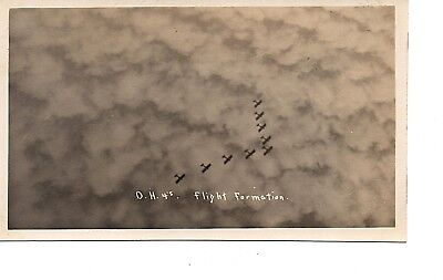 Dh 4S ~ Wwi World War I ~ Air Force  Usaac~ In Flight Airplane  Rppc 88