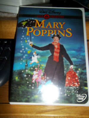 WALT DISNEY GOLD COLLECTION CLASSIC DVD of ORIGINAL MARY POPPINS WHITE CASE ~GUC