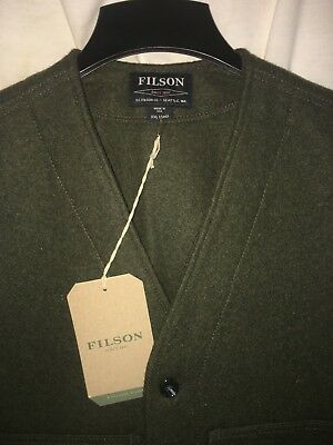 New With Tags Filson Made In Usa Mackinaw Wool Cruiser Vest 2Xl Long