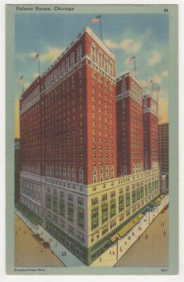 Palmer House c1949 Chicago Illinois Hotel, vintage postcard