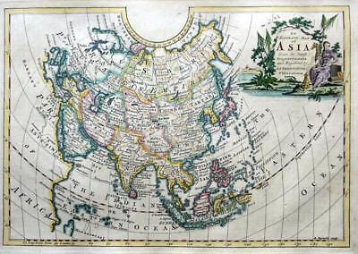 ASIA  BY RICHARD REYNOLDS c1778  GENUINE COPPER ENGRAVED  ANTIQUE MAP