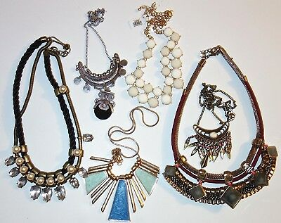 LOT of ANTIQUE/VINTAGE Unsearched ASSORTED COSTUME JEWELRY NECKLACES~LOT #21!