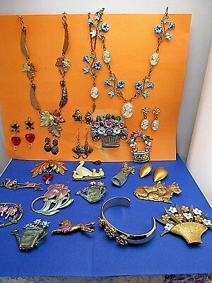 Vintage wholesale lot of Hand Crafted Jewelry Huge European Art Nouveau Style 11