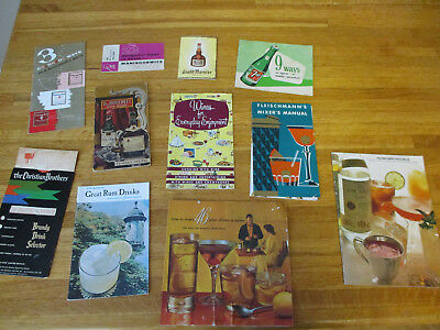 Vintage Liquor/Cocktail Recipe Booklets and 7 UP booklet